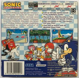 Sonic Advance- PAL_-_BACK