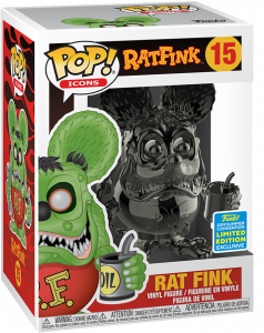 FUNKO POP! – ICONS – RATFINK – RATFINK GRAY CHROME – 15