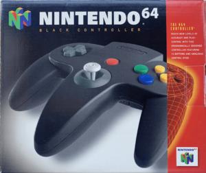 Nintendo 64 N64 Controller BLACK / Official (Noire)