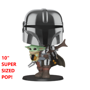 [PREORDER] Funko POP! – Star Wars – THE MANDALORIAN – Mandalorian (chrome helmet) w/ The Child (Baby Yoda) [PREORDER]